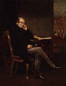 John Russell, 1st Earl Russell, by Lowes Cato Dickinson - NPG 5222