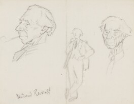 Bertrand Russell, by Sir David Low - NPG 4529(321)