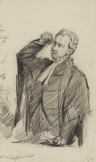 Charles Arthur Russell, Baron Russell of Killowen, by Sydney Prior Hall - NPG 2241