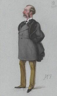 Sir Charles Russell, 3rd Bt, by Carlo Pellegrini - NPG 4740