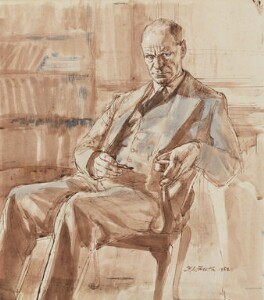 Gilbert Ryle, by Hubert Andrew Freeth, 1952 - NPG  - © Martin, Tony and Richard Freeth