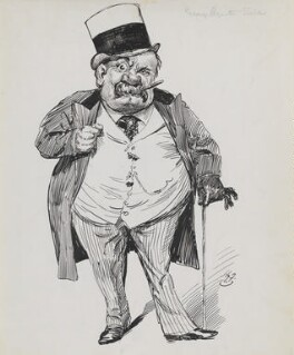George Augustus Sala, by Harry Furniss, 1880s-1900s - NPG  - © National Portrait Gallery, London