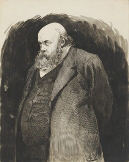 Robert Gascoyne-Cecil, 3rd Marquess of Salisbury, by Harry Furniss, 1891 - NPG 3409 - © National Portrait Gallery, London