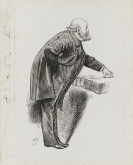 Robert Gascoyne-Cecil, 3rd Marquess of Salisbury, by Harry Furniss - NPG 3411