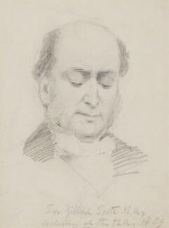 Sir George Gilbert Scott Sr, by Charles Bell Birch - NPG 2475