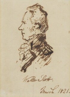 Unknown man, formerly known as Sir Walter Scott, 1st Bt, attributed to Edwin Landseer - NPG 1650