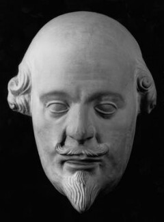 William Shakespeare, after Gerard Johnson, 19th century, based on a work of circa 1620 - NPG 185a - © National Portrait Gallery, London