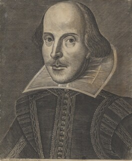 William Shakespeare, by Martin Droeshout - NPG 185