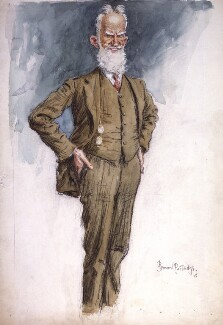 George Bernard Shaw, by Sir (John) Bernard Partridge, circa 1925 - NPG 4228 - Reproduced with permission of Punch Ltd