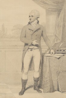 John Baker Holroyd, 1st Earl of Sheffield, by Henry Edridge - NPG 2185