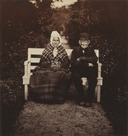 The old gardener Simpson....and his wife, by George Washington Wilson, 1854 - NPG P22(14) - © National Portrait Gallery, London