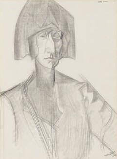 Edith Sitwell, by (Percy) Wyndham Lewis, 1921 - NPG 4464 - © Wyndham Lewis and the estate of the late Mrs G A Wyndham Lewis by kind permission of the Wyndham Lewis Memorial Trust (a registered charity)