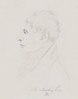 Robert Southey, by Mary Dawson Turner (née Palgrave), after  Thomas Phillips, before 1850, based on a work of 1815 - NPG 4071 - © National Portrait Gallery, London
