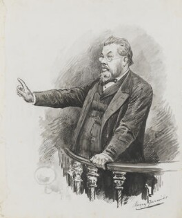 Charles Haddon Spurgeon, by Harry Furniss - NPG 3517