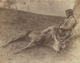 Donald Stewart and the same Stag, by George Washington Wilson - NPG P22(27)