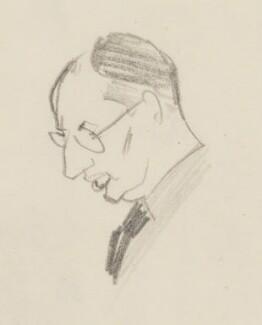 John Strachey, by Sir David Low - NPG 4529(343a)