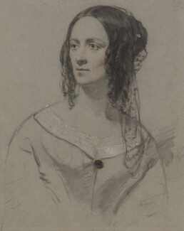Agnes Strickland, by Charles L. Gow, 1844 - NPG  - © National Portrait Gallery, London