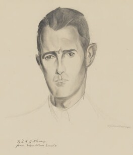 Leonard Alfred George Strong, by Wyndham Lewis - NPG 5143