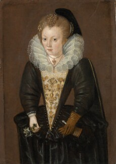Unknown woman, possibly Lady Arabella Stuart, by Unknown artist, circa 1595-1600 - NPG 1723 - © National Portrait Gallery, London
