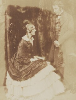 Lady Georgina Elizabeth Wharncliffe (née Ryder); John Stuart-Wortley, 2nd Baron Wharncliffe, by David Octavius Hill, and  Robert Adamson - NPG P6(102)