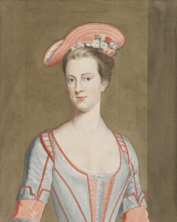 Henrietta Howard (née Hobart), Countess of Suffolk, attributed to John Harris, after a painting attributed to  Thomas Gibson, 1800-1873, based on a work of circa 1715-1725 - NPG 2451 - © National Portrait Gallery, London