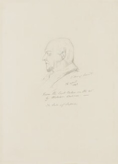 Prince Augustus Frederick, Duke of Sussex, by Alfred, Count D'Orsay, 1843 - NPG 4026(54) - © National Portrait Gallery, London