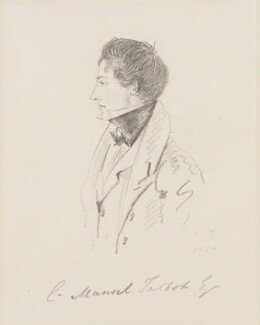 Christopher Rice Mansel Talbot, by Alfred, Count D'Orsay, 1834 - NPG 4026(55) - © National Portrait Gallery, London