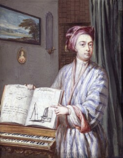 Brook Taylor, probably by Louis Goupy, 1720 - NPG 1920 - © National Portrait Gallery, London