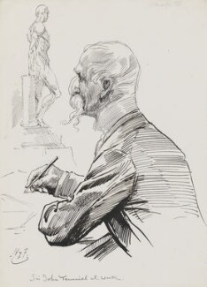 Sir John Tenniel, by Harry Furniss - NPG 3526