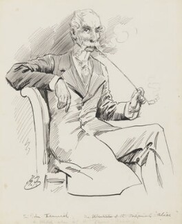 Sir John Tenniel, by Harry Furniss - NPG 3527