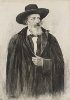 Alfred, Lord Tennyson, by William Henry Margetson, after a photograph by  Herbert Rose Barraud, 1891, based on a work of 1882 - NPG 4343 - © National Portrait Gallery, London