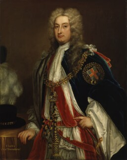 Charles Townshend, 2nd Viscount Townshend, attributed to Charles Jervas - NPG 1755