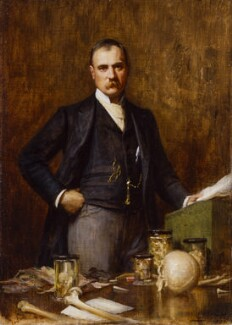 Sir Frederick Treves, 1st Bt, reduced replica by Luke Fildes - NPG 2917