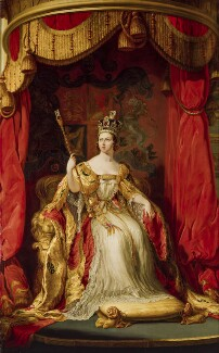 Queen Victoria, replica by Sir George Hayter, 1863, based on a work of 1838 - NPG 1250 - © National Portrait Gallery, London