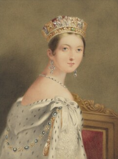 Queen Victoria, reduced copy by W. Warman, after  Thomas Sully, 1838-1870, based on a work of 1838 - NPG 1891a - © National Portrait Gallery, London