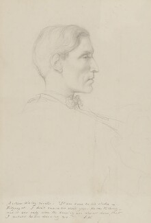 Arthur David Waley, by Rex Whistler - NPG 4598