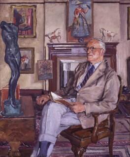Sir Hugh Walpole, by Stephen Bone - NPG 3841