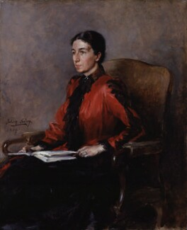 Mary Augusta Ward (née Arnold), by Julian Russell Story, 1889 - NPG 2650 - © National Portrait Gallery, London