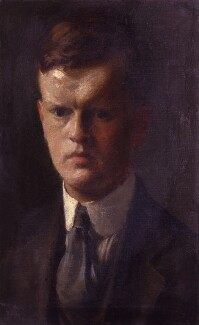 Unknown man, formerly known as Evelyn Waugh, by Unknown artist - NPG 5218