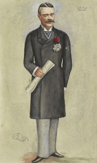 Beilby Lawley, 3rd Baron Wenlock, by Hon. Mary Catherine Rees (née Dormer) ('MR' and 'Bint') - NPG 2971