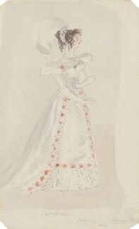 Sarah West (née Cooke), by Alfred Edward Chalon - NPG 1962(i)
