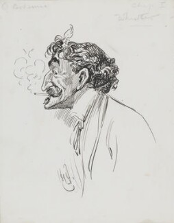 James Abbott McNeill Whistler, by Harry Furniss, 1880s-1900s -NPG 3618 - © National Portrait Gallery, London
