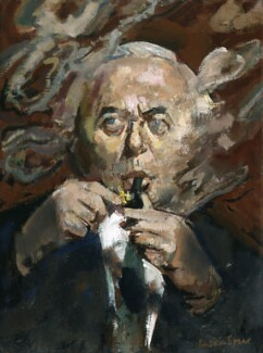 Harold Wilson, by Ruskin Spear - NPG 5047