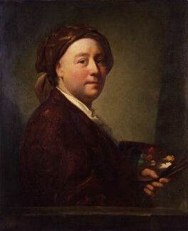 Richard Wilson, by Edward Penny, after  Anton Raphael Mengs, 1752-1779, based on a work of 1752 - NPG 1803 - © National Portrait Gallery, London