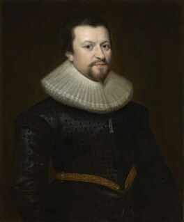 Unknown man, formerly known as Sir Ralph Winwood, by Unknown artist, circa 1617-1620 - NPG 40 - © National Portrait Gallery, London