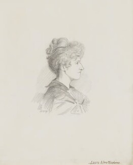 Laura Theresa (née Epps), Lady Alma-Tadema, by Walker Hodgson - NPG 5898