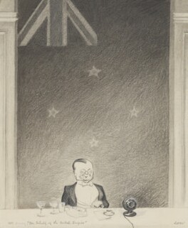 Leopold Stennett Amery, by Sir David Low, published in The Graphic 30 April 1927 - NPG 5859 - © Solo Syndication Ltd