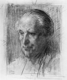 Sir (Ralph) Norman Angell (né Ralph Norman Angell Lane), by Augustus John - NPG 5595