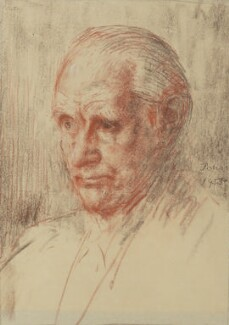 Sir (Ralph) Norman Angell (né Ralph Norman Angell Lane), by Augustus John - NPG 6084
