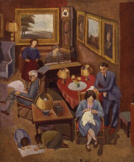 Ramsay MacDonald with members of his family, by Peggy Angus - NPG 6102